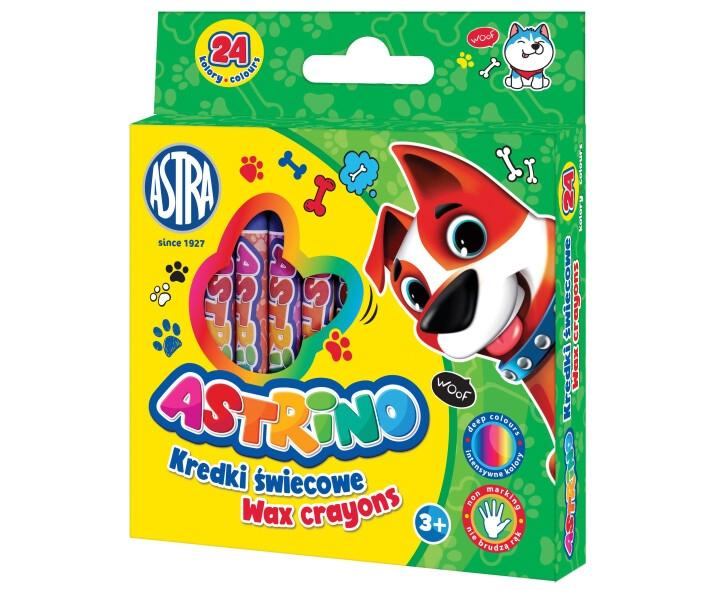 Kredki świecowe Astrino, 24 kolory (316121004)