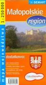 Małopolskie region mapa województwa 1:250 000