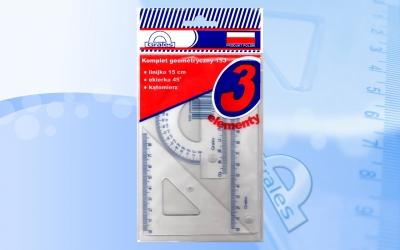 Komplet geometryczny 15J 3 elementowy
