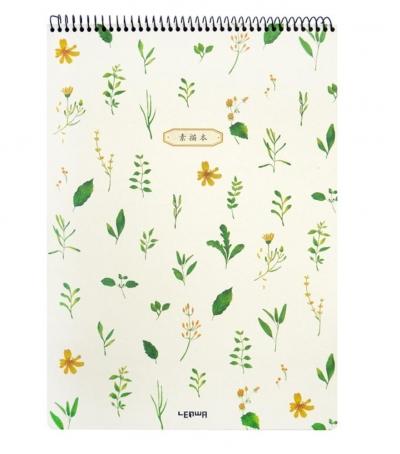 Kołoszkicownik A3/40K zioła zółte kwiatki