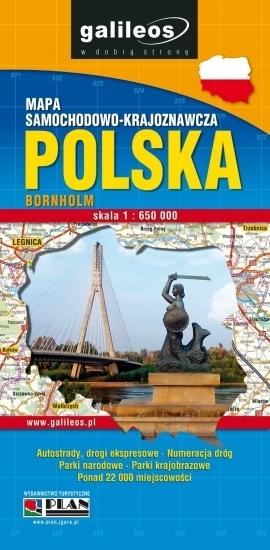 Polska - mapa samochodowo-krajoznawcza 1:650 tyś praca zbiorowa