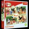 Puzzle 4w1 Wesoły dzień Binga (34335)