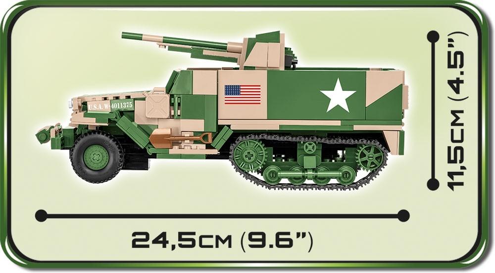 Cobi: Historical Collection. World War II - M3 Gun Motor Carriage (2535)