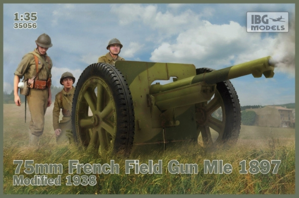 Model plastikowy 75mm francuska armata polowa Mle 1897 modyfikowana 1938 (35056)