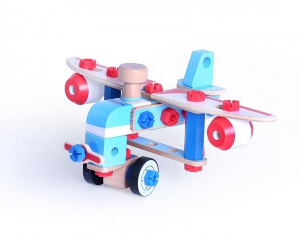 Klocki drewniane konstrukcyjne Samolot (15011)