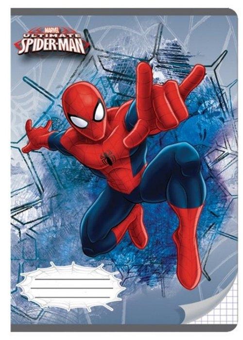 Zeszyt A5 w kratkę 32 kartki Spider-Man 5 sztuk