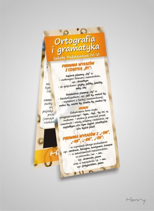 Magnetyczna zakładka Ortografia i gramatyka 4-6