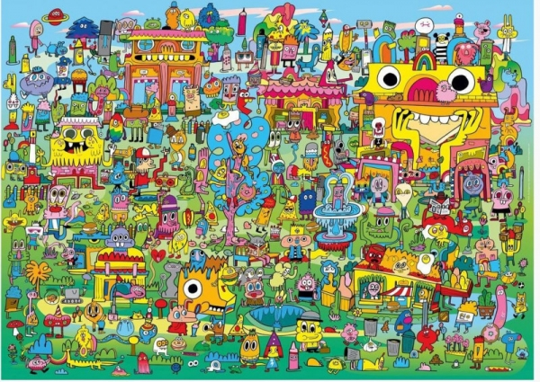 Puzzle 1000 elementów Wioska pełna Doodli, Jon Burgermann (29936)