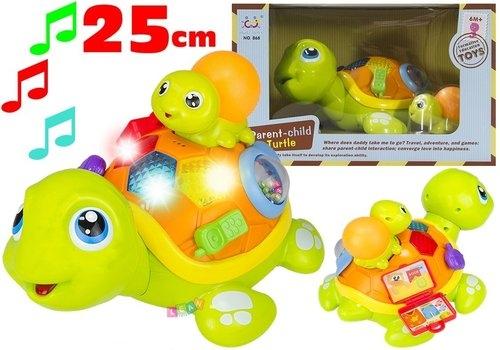 Kolorowy Żółw Interaktywny + Żółwiątko Świeci Gra