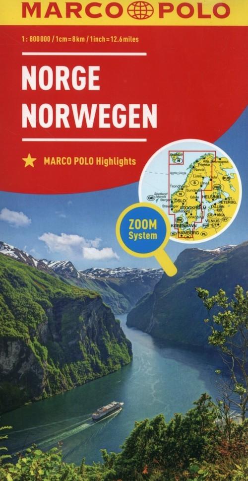 Norwegia mapa drogowa Marco Polo 1:800 000