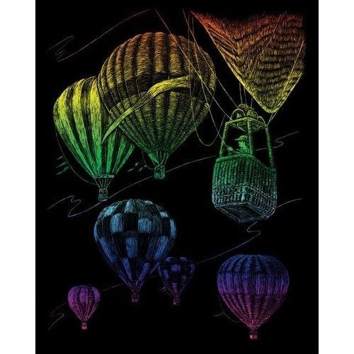 Wydrapywanka Standard tęczowa - Balony