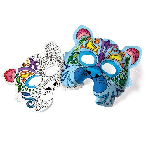 Kolorowanka 3D Maski Dzikie Koty 2 maski