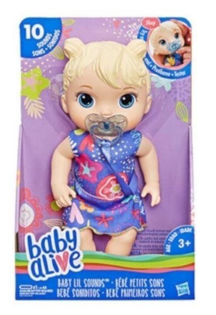 Baby Alive Lala Słodkie dźwięki Blondynka (E3690)