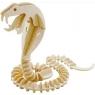 Puzzle drewniane 3D Wąż