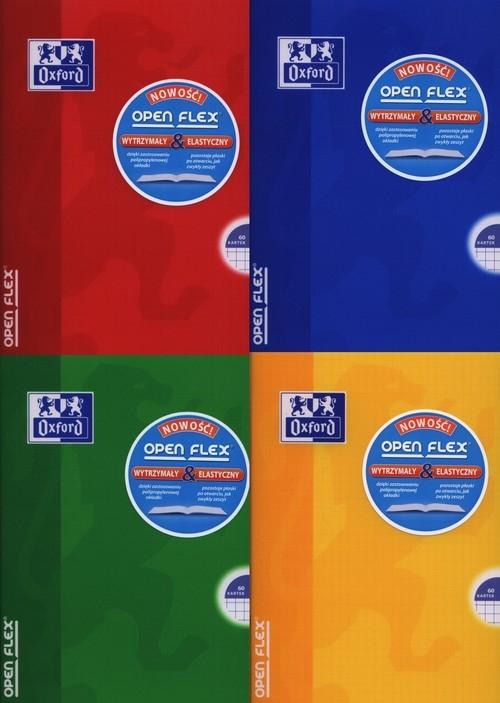 Zeszyt A5 Oxford w kratkę 60 kartek Open Flex mix