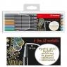 Flamastry Pen metaliczne 6 kolorów + etui