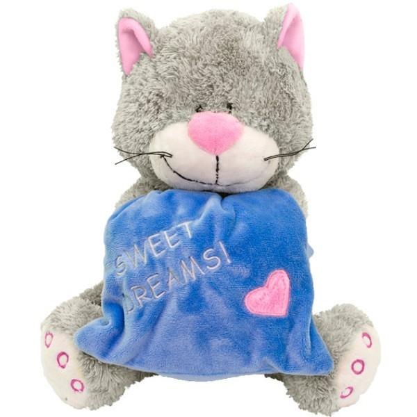 BEPPE Kot z niebieską poduszką 23 cm