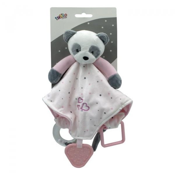 Przytulanka New baby Miluś z dodatkami różowy 20 cm (5136a)