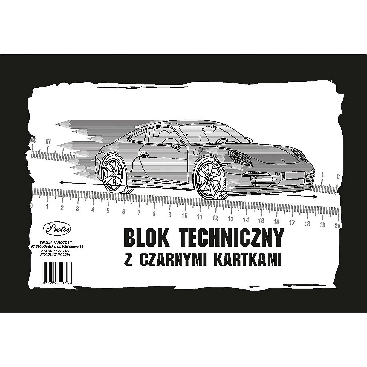 Blok techniczny z czarnymi kartkami A4/10k (38856)