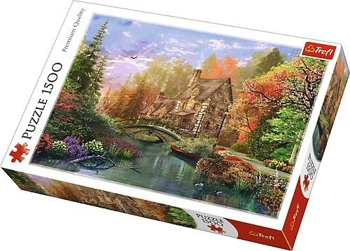 Puzzle 1500: Chatka nad jeziorem (26136)