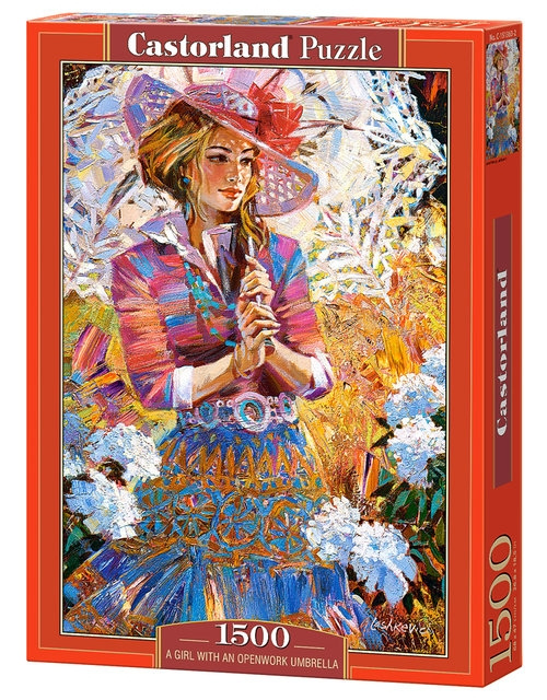Puzzle A Girl with an Umbrella Open-Work 1500 (151363)