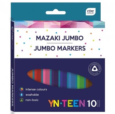 Flamastry trójkątne Jumbo 10 kolorów YN TEEN
