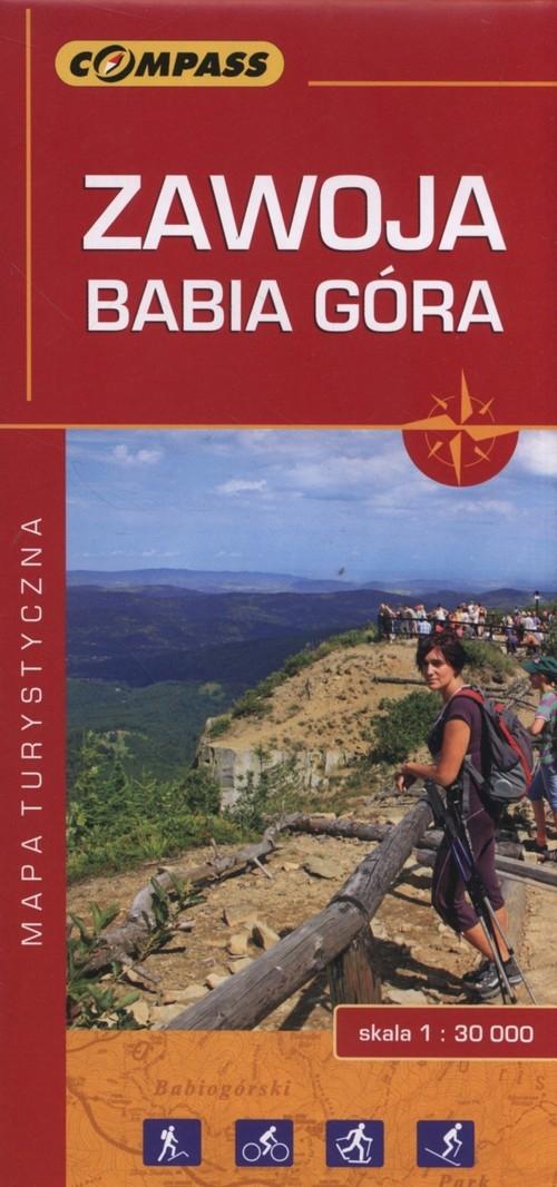 Zawoja Babia Góra Mapa turystyczna 1:30 000