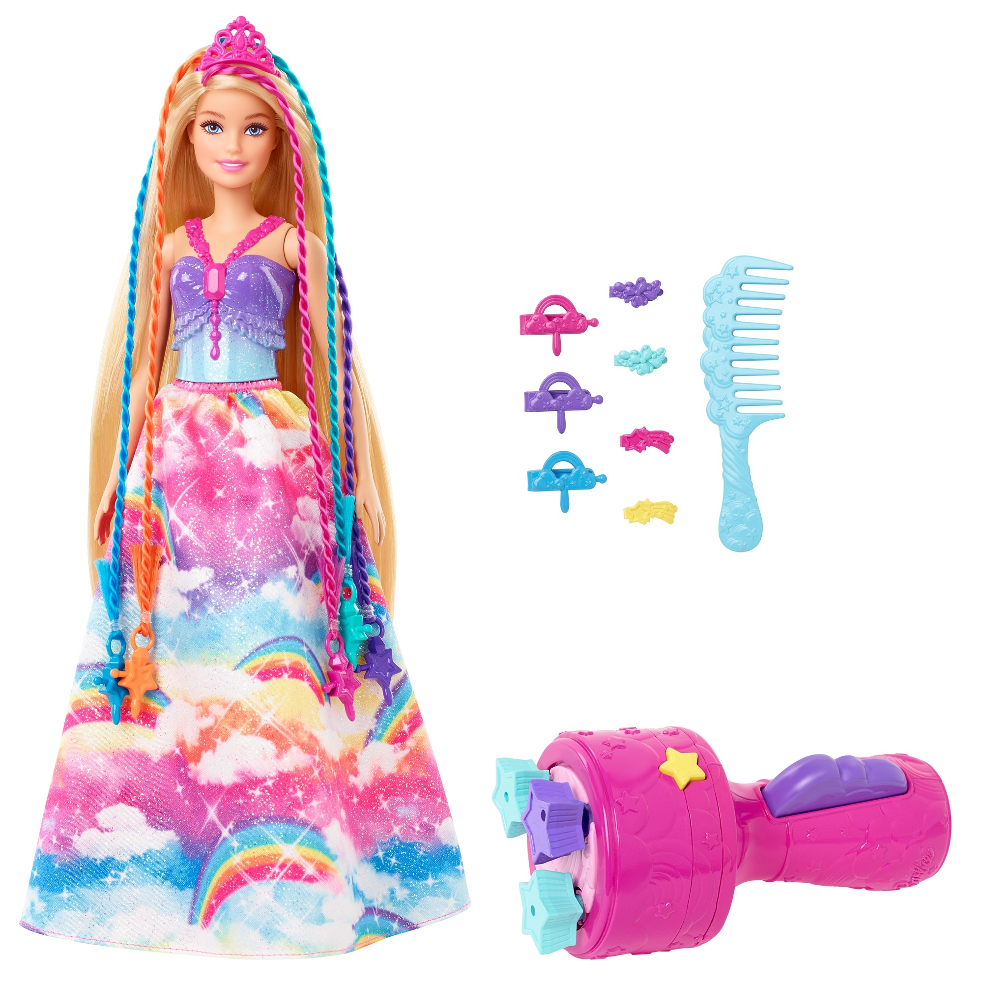 Barbie Dreamtopia: Księżniczka z zakręconymi pasemkami (GTG00)