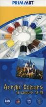 Farby akrylowe Prima Art 12 kolorów 12 ml w tubie