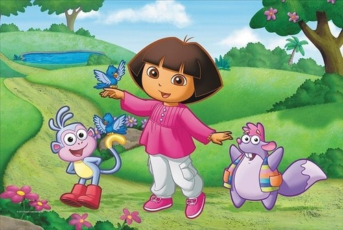 Dora z ptaszkami Puzzle Maxi 20