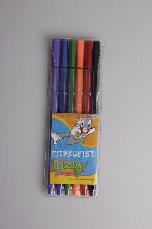 Cienkopisy 6 kolorów