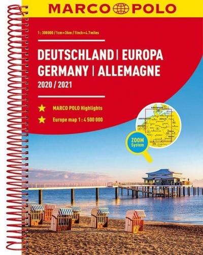 Atlas ZOOM System. Niemcy 1:300 000 MARCO POLO praca zbiorowa