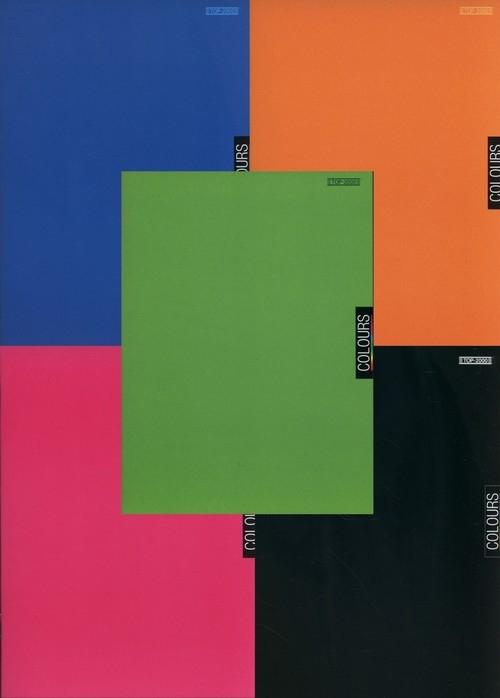 Brulion A4 Top-2000 w kratkę 96 kartek Colours 5 sztuk mix