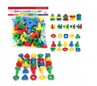 Klocki Małych Geniuszy - Figury ze śrubkami, 50 elementów (116365)