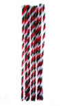 Druciki kreatywne 30 cm trójkolorowe, 10 szt.