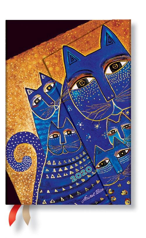 Kalendarz 2020 Mini Horizontal Mediterranean Cats 12m
