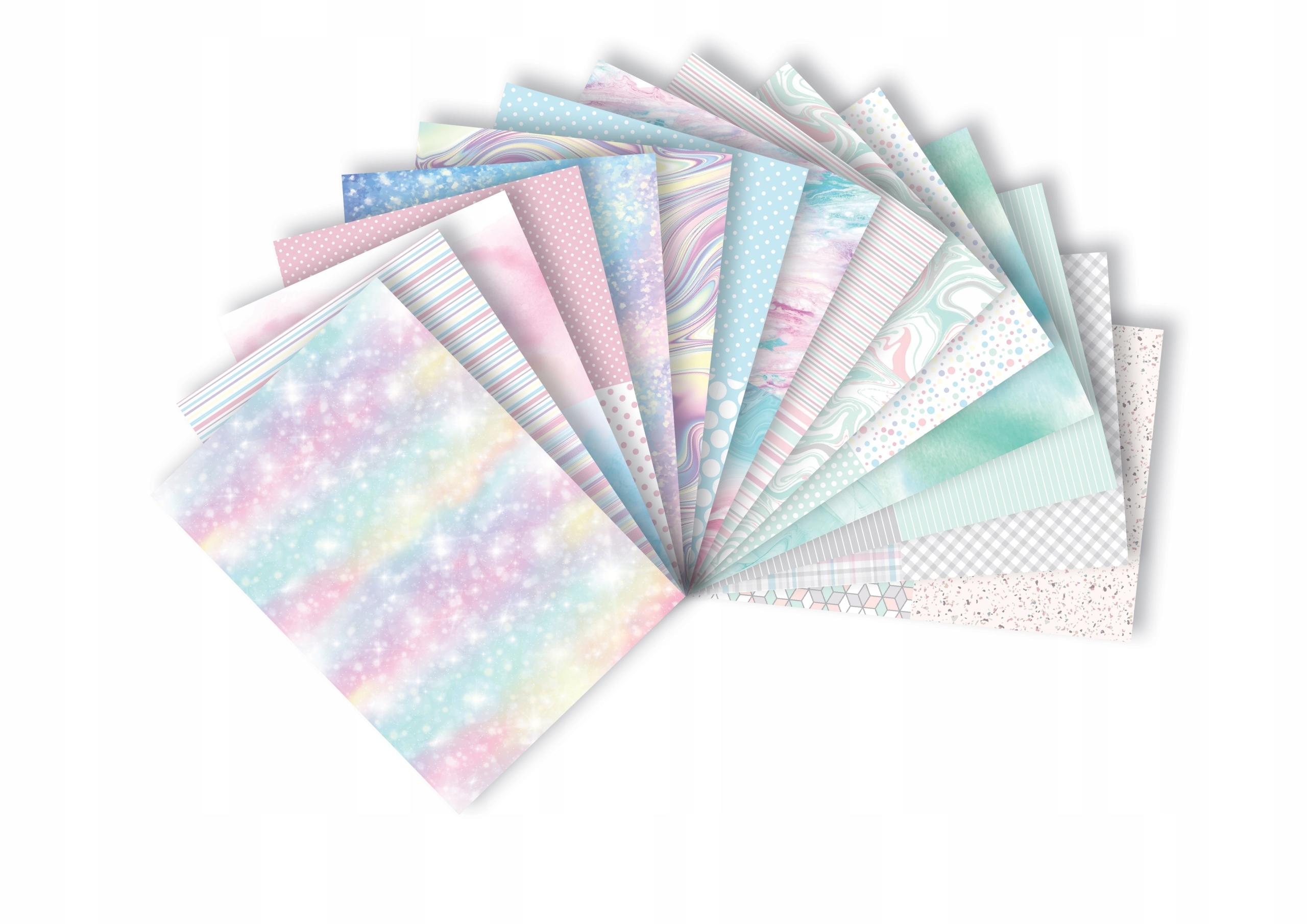 Blok z motywami Happy Color Pastel, A4/15 arkuszy (HA 3808 2030-P)