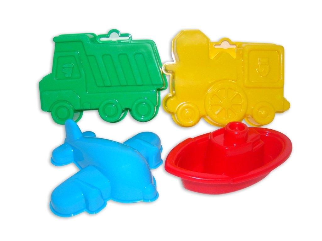 Foremki - zestaw: wywrotka + lokomotywa + samolot + statek