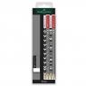 4x ołówek + gumka Stripe - Etui plastikowe Faber-Castell (113034 FC)