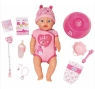 Baby Born: Lalka interaktywna Soft Touch - dziewczynka (824368)