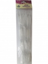 Druciki faliste białe 6x30cm 15szt.16001A