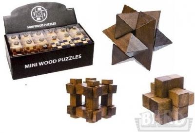 Mini wooden puzzle - łamigłówka drewniana (1369)