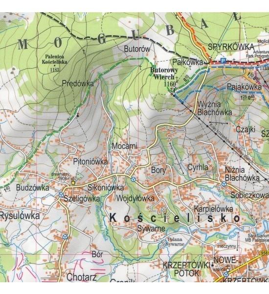 Tatry Zachodnie polskie i słowackie, 1:30 000 - mapa turystyczna praca zbiorowa