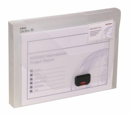Pudełko na dokumenty A4 35mm przezroczyste