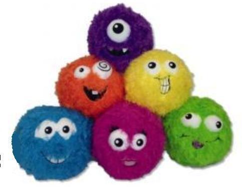 Piłka Fuzzbies - różne rodzaje