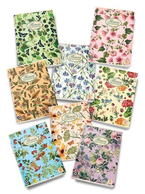 Zeszyt A4 Pigna Nature Flowers w linie 42 kartki mix wzorów