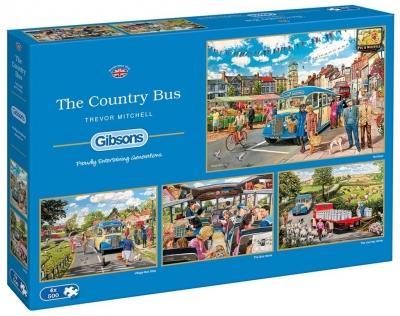 Puzzle 4x500 Autobus G3