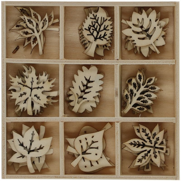 Ozdoba drewniana Titanum Craft-fun naturalny 45 szt