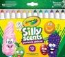 Crayola Silly Scents Markery słodkie zapachy 12 kolorów