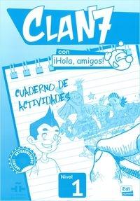 Clan 7 con Hola amigos 1 Ćwiczenia (Uszkodzona okładka) Castro Maria